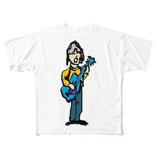 ギターリスト Full graphic T-shirts