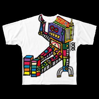 HATSUMEI KIDZのお帰りロボット Full graphic T-shirts