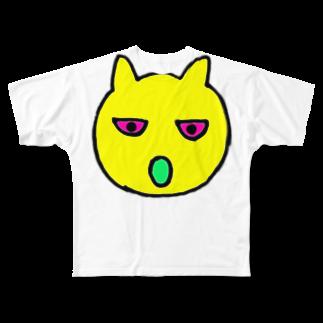 mogrusの謎の動物Tシャツ Full graphic T-shirts