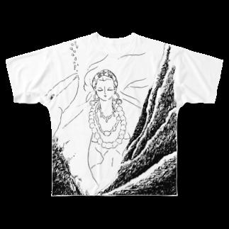 ℃星の深海に潜む。 Full graphic T-shirts