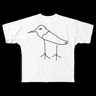 黒シャツ(XUV)のくじゃく Full graphic T-shirts