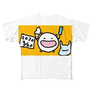 心置きなくアイスを食うと決心したねこです Full graphic T-shirts
