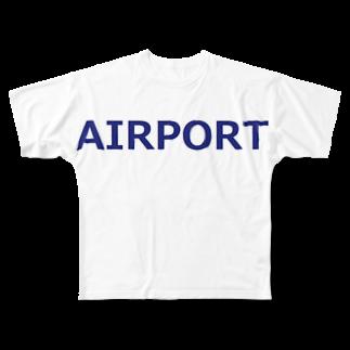 アメリカンベースのエアライングッズ AIRPORT Full graphic T-shirts
