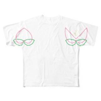 ももともも Full graphic T-shirts