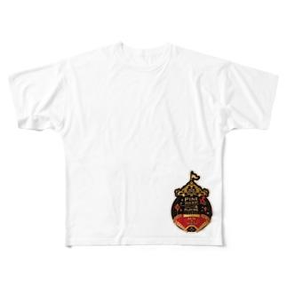 RUN ステッカー Full graphic T-shirts