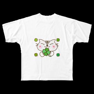 eigoyaのクローバーとアメショー Full graphic T-shirts