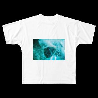 wa_d3300_のにくきゅうくん Full graphic T-shirts
