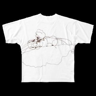anconobuchiのノスタルジックパンケークス Full graphic T-shirts