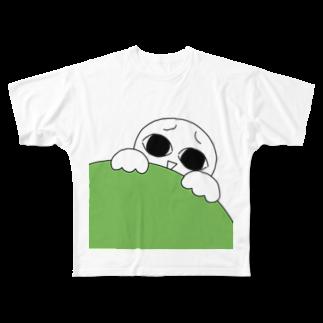 がまの店のみてる子 Full graphic T-shirts