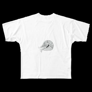 suneoのアンモナイト Full graphic T-shirts