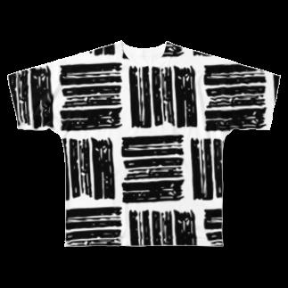 SANKAKU DESIGN STOREのザクザクあみあみ。 Full graphic T-shirts