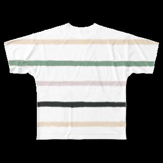 SANKAKU DESIGN STOREのノスタルジック横線。 Full graphic T-shirts