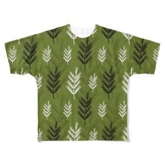 名前を忘れた針葉樹。 Full graphic T-shirts