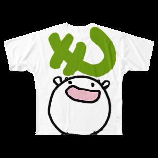 ダイナマイト87ねこ大商会の「も」をGETするねこです Full graphic T-shirts