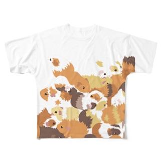 融合するモルモット Full graphic T-shirts