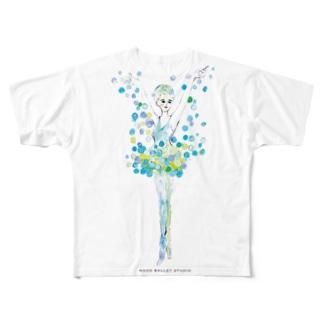 雪の精❄️ ロゴ付 Full graphic T-shirts