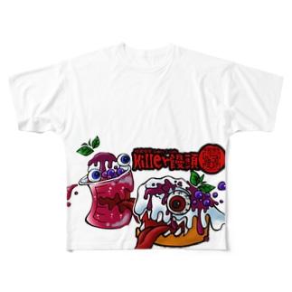 紅いクリームソーダとKillerシフォン Full graphic T-shirts