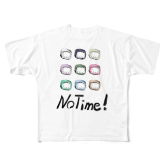 NoTime文字入りA Full graphic T-shirts
