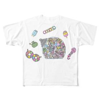 小腹がへった! Full graphic T-shirts