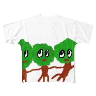 気になるトリオ Full graphic T-shirts