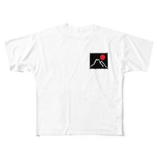 幸運のスーパームーン Full graphic T-shirts