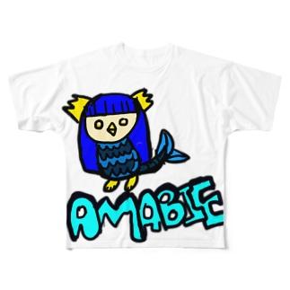 アマビエくんの願い Full graphic T-shirts