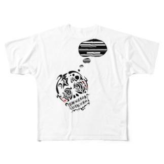 よこしまな考え事しています。 Full graphic T-shirts