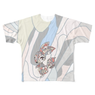 RISUSAGI Full graphic T-shirts