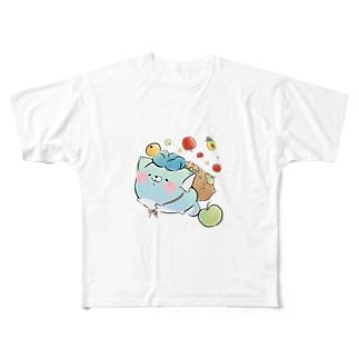 お出かけじんねこ Full graphic T-shirts