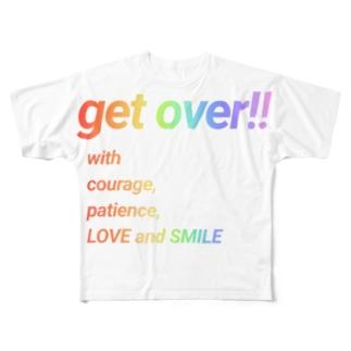 乗り越えよう(反転version) Full graphic T-shirts
