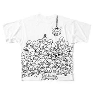 80+1ブロブ Full graphic T-shirts
