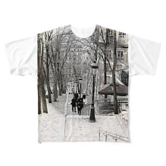 モンマルトルの階段 Full graphic T-shirts