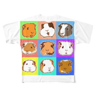 SMILE!モルモット大集合! Full Graphic T-Shirt