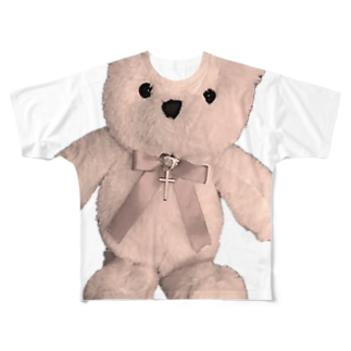 Dreamy Teddy Sepia Full graphic T-shirts