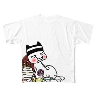 満腹中枢がお気の毒なセアさん Full graphic T-shirts