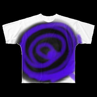 Teiのバラのキャンディー Full graphic T-shirts