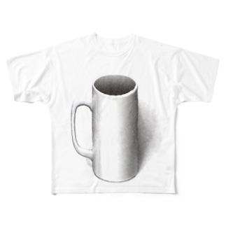 マグカップついてるよ Full graphic T-shirts