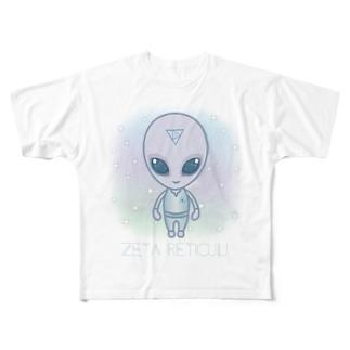 Zeta Reticuli(ゼータ・レチクル星人) Full graphic T-shirts