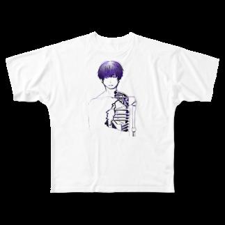 夜店の細胞愚(サイボウグ) Full graphic T-shirts