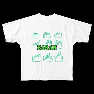 ぽんぽこやのばらん Full graphic T-shirts