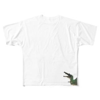 緑スピノサウルス Full graphic T-shirts