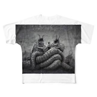 大蛇 Full graphic T-shirts