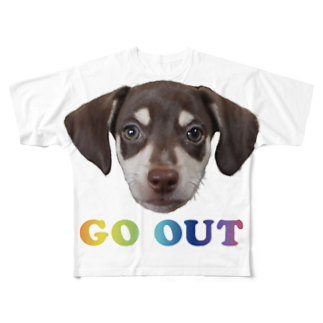 Puppy Vibesの#go out Full graphic T-shirts