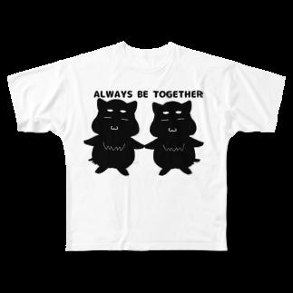 まいにち、きなこちゃんと。のAlways be together! Full graphic T-shirts