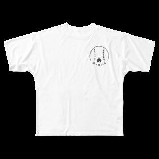 B_famC 【official サイト】のB_famC【official グッズ】 Full graphic T-shirts