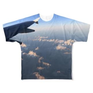 マッターホルン「飛行機から見えた!」 Full graphic T-shirts