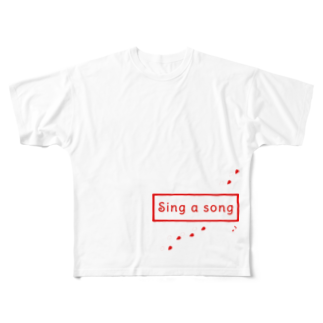 Sorapolice_pinopoliceのsing a song Full graphic T-shirts