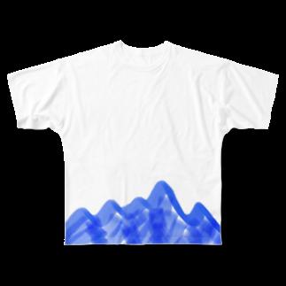 stecchiのどこにでもある山 Full graphic T-shirts