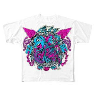 京都バルバラ×漫画家「瀬口忍先生」コラボグッズ Full graphic T-shirts