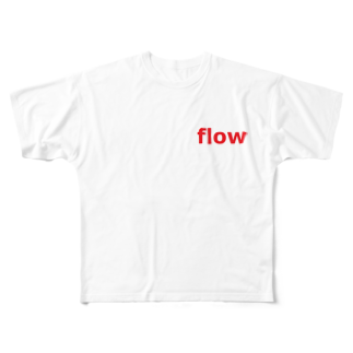 アメリカンベースのflow Full graphic T-shirts